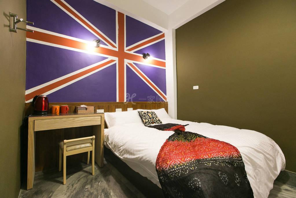 ARCH雅砌美学公寓 英国蓝彩绘设计双人房