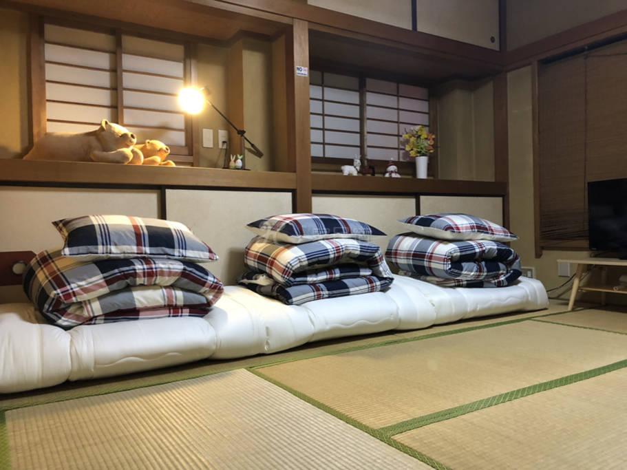 浅草寺机场直达新上线榻榻米和室三人间一Y11