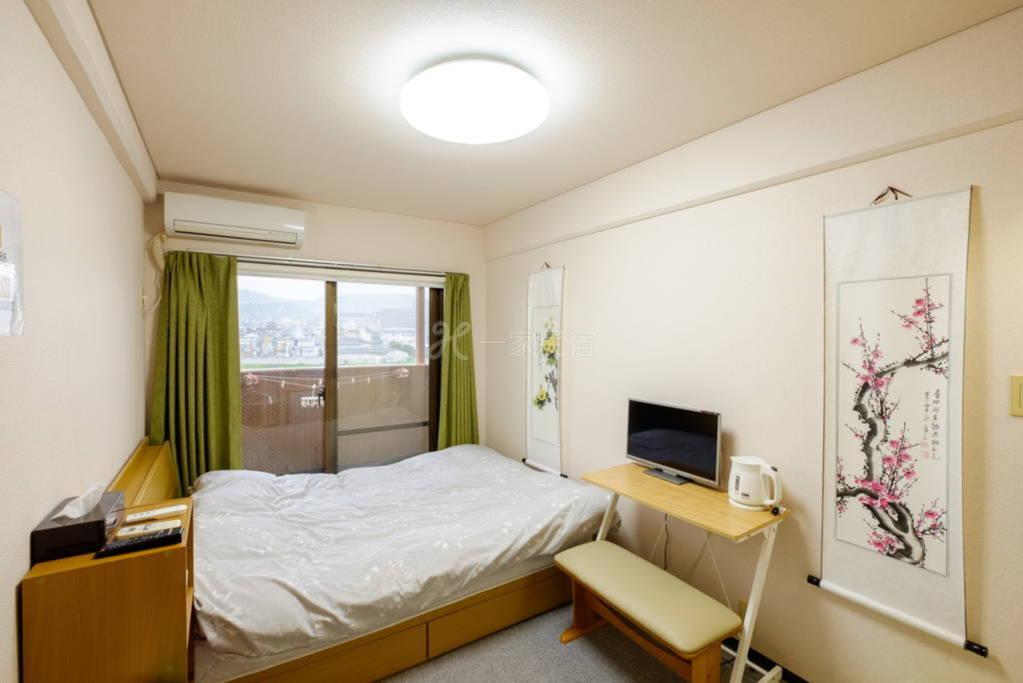 京都站鸭川公寓双人床2号