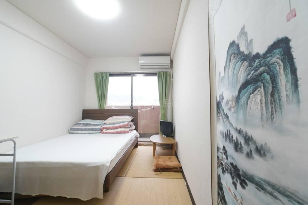 京都站鸭川公寓双人床1号