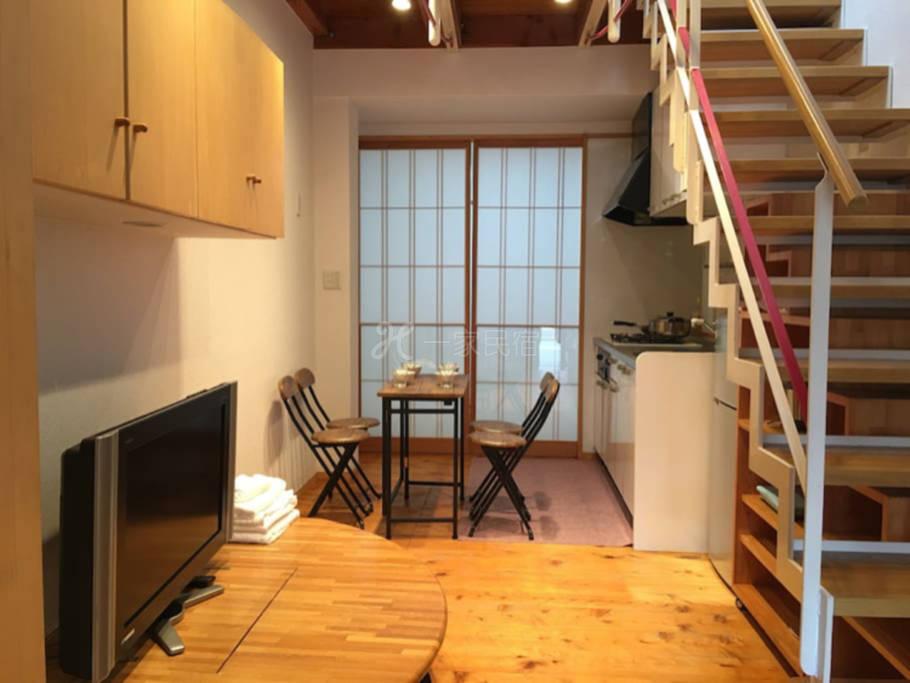 惠美须町独栋小楼,徒步5分钟,地铁3分钟