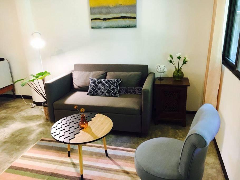 独立小别墅/简易厨房/大床+沙发床