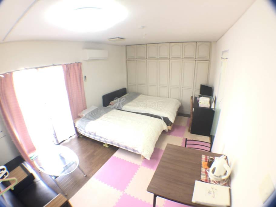 近天王寺个室备WC洗脸台!阳台2~4人房