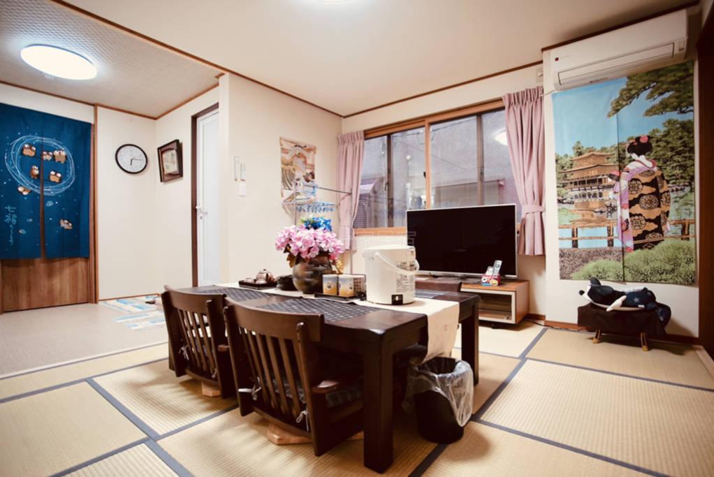 翔龙庵久保家京都车站免费接送日式独立卫浴榻榻米大套房