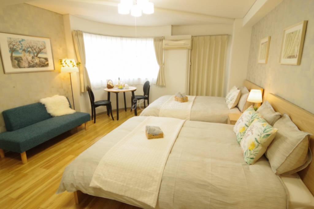 道顿堀东Art Hotel 502室 日本桥地铁站步行6分钟,心斎桥、难波、步行圈内,备携带wifi